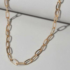 3/$30 Gold Color Paper Clip Chain Necklace